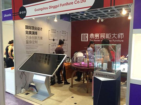 2017年香港珠宝展,鼎贵打造高大上珠宝展示柜