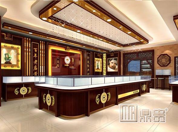 聊聊品牌旗舰店为什么喜欢找鼎贵黄金展柜公司定制展柜?