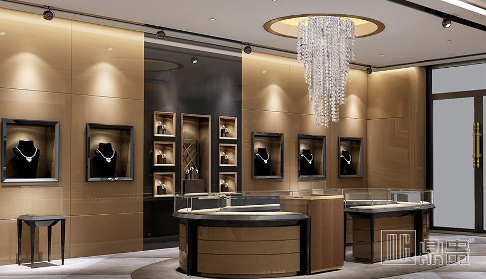 英国奢华珠宝店展示柜
